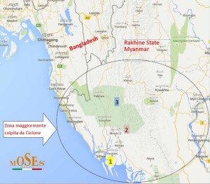 Area di soccorso post-ciclone Komen